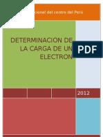 Determinacion de La Carga Del Electron