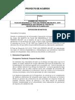 PROYECTO de Acuerdo del Plan de Desarrollo Pereira
