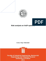VoIP Risk Analysis