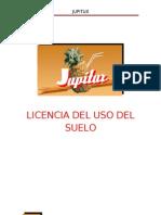 Licencia Del Uso Del Suelo Jupitux s.a. de c.V.