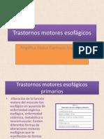 Trastornos motores esofágicos