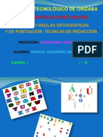 Normas y reglas ortográficas y de puntuación  3.1