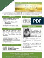 Le bulletin d'annonces N°15 Semaine du 19 Mai au 26 mai 2012