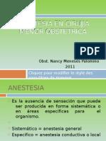 Anestesia en Cirujia Menor Obstetric A
