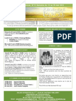Le bulletin d'annonces N°15 semaine du 19 au 26 mai 2012