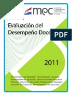 Manual Instructivo Evaluación del Desempeño Docente 2011