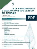 Controle de Performance e Gestão do Risco Clínico em Cirurgia