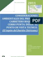 Consideraciones Tecnica Sobre La Carretera Boquete Cerro Punta