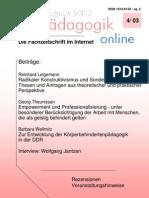 Reinhard Lelgemann (2003) - Radikaler Konstruktivismus und Sonderpädagogik