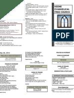 Church Bulletin -May 20th