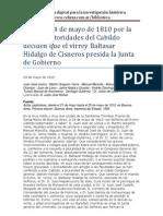 Cabildo de Buenos Aires - Acta del 24 de Mayo - 1810