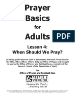 Prayer Basics Adult Lesson - Week Four