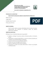 Programa Bases Constitucionales del Derecho Administrativo Venezolano