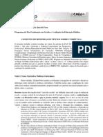 RESENHA DE TEXTOS SOBRE CURRÍCULO ESCOLAR E POLÍTICAS CURRICULARES