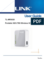 TL-MR3020 User Guide