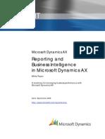 AX Reporting and Bi
