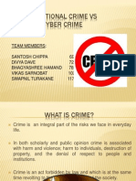 Traditional Crime vs Cyber Crime