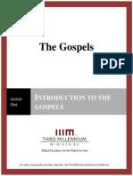 The Gospels - Lesson 1 - Transcript