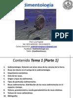 Sedimentologia Tema 1 I-2012