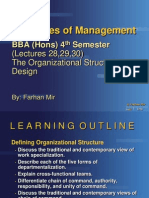 Management BBA (Hons) 4th Lec 252627 Org St & Design