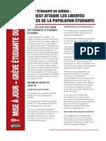 Mise à jour – Grève ètudiante du Québec