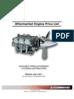 2011 Aftermarket Engine Price List