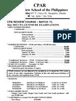 Cpar Batch 71 May 2012 Cpa Exam