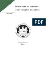 A Tutela Juridico-Penal Do Ambiente - Legitima Defesa