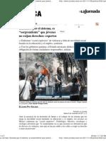 La Jornada_ Excluidos por el sistema, es sorprendente que jóvenes no exijan derechos_ expertos