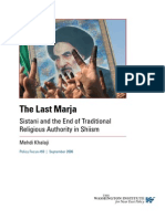 12 a the Last Marja Sistani and the End of Traditional Religious Authority in Shiism Mehdi Khalaji 01