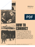 FM 25-4 How to Conduct Training Exercises
