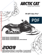 2009 F6 EFI Sno Pro Parts Manual
