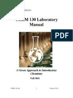 CHEM 130 Lab Manual Fall 2011
