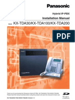 Pan KXTA100-200 Installation Manual 12MB