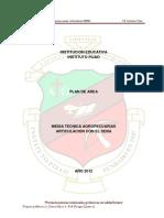 Plan Area Agropecuarias y Proyectos 2012