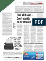 thesun 2008-12-23 page02 porn vcd case - court acquits ex-air steward