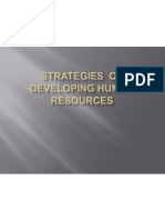 Strategies of Developing Human Resources