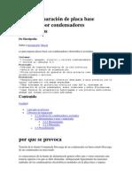 Guía de reparación de placa base problema por condensadores electrolíticos