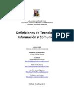 Definiciones conceptos relacionados con TICs