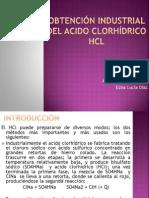 Obtención industrial del acido clorhídrico hcl