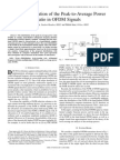 On the Distribution of the Peak-To-Average Power Ratio in OFDM Signals