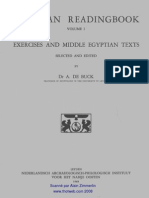 De Buck Egyptian Reading Book Vol I Leiden 1948