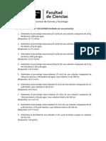 Ejercicios Porcentaje Masa, Vol