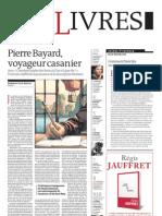 Supplément Le Monde des livres 2012.01.27