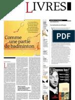Supplément Le Monde des livres 2012.03.09