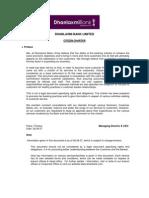 Citizenship Charter of DB