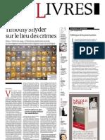 Supplément Le Monde des livres 2012.04.27