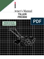 Honda FRC800 Tiller Owners Manual