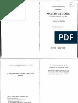 Goldziher - Muslim Studies 2 | Hadith | Ali