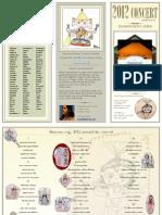 Program Handout | 2012 Annual Day Concert | dhanyasy.org
